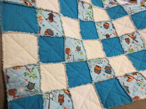 New Home-made Raggy Baby Quilts