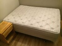 Double mattress and box spring set with extras!