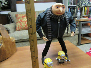 Minions Gru  Despicable Me  Interactive Talking Poseable Figure