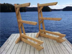 Portable Canoe, Kayak, SUPs  Racks