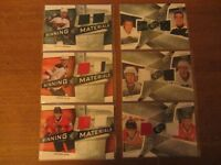 6 2008-09 SPX game-used jersey hockey cards: Kane Toews Staal