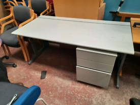 desks and pedestal
