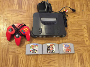 N64 with 3 games