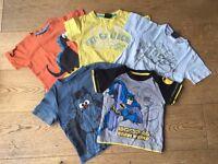 5 boys tshirts 12-18months