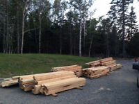 Rough  cut lumber 50 cents a board foot