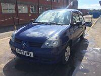 Bargain Renault Clio, full years MOT, low miles, cheap tax