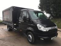 2012 62 Iveco Daily 70C17 EEV LWB 7 seat crew cab, 15ft curtainsider