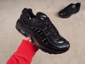 Nike Air Max 98 - Supreme x NikeLab - Triple Black - Limited Sizes