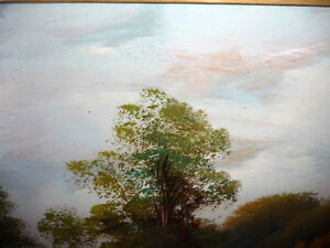 "Original Oil Painting ""Early Summer Path"" Vintage Early 1900's Stratford Kitchener Area image 2"