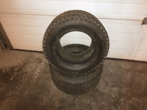 Turf tires for lawn or garden tractor