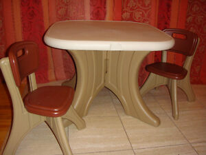 BABY- TODDLER - KID FURNITURE: TABLE AND 2 CHARS SET