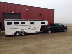 Near new condition 3 horse trailer
