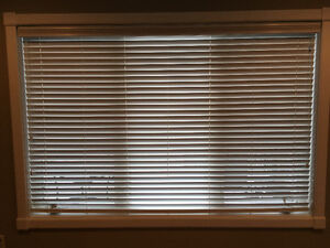 Pair of White Faux Wood Blinds Strathcona County Edmonton Area image 2