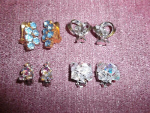 Beautiful vintage CLIP-ON earrings ($7 ea or two sets only $10)