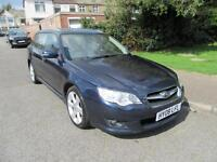 2008 SUBARU LEGACY 2.5L 171BHP BLACK LEATHER SPORT TOURER AUTO SEN