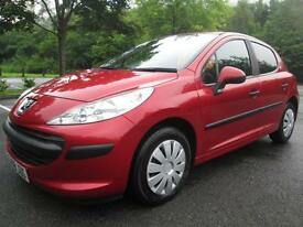 08/08 PEUGEOT 207 URBAN 1.4 HDI 5DR HATCH IN MET RED WITH 72,000 MILES
