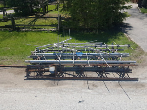 Free antenna tower fully disassembled
