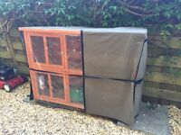 Rabbit hutch and cover 3 month old