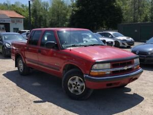 "2002 Chevrolet S-10 Crew Cab 123"" WB 4WD LS Power Group"