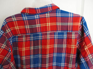 Women's Old Navy red plaid flannel dress shirt buttondown XL NWT London Ontario image 7
