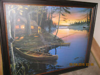 CANOE at the CABIN & CAMP FIRE CANOE by Ervin Molnar