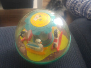 Fisher price vintage ball carousel toy