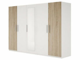 **Elegant Look**Stylish Design** Brand New Alexander 5 Door Cupboard in 4 Colours