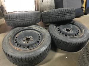 Michelin x-ice 205/60R16 92Q winter tires pneu hiver rims