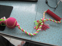 Brand New Doggie Tennis Ball Rope Toy