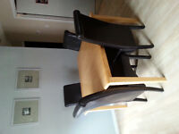 Solid wood wirh 4 parsons chairs