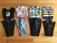 Girls clothes - size 8, 10, 12 - Justice, Abercrombie