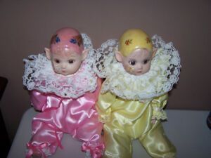 2 -Vintage Kay Mckee Signed 1986 Fairy Elf Doll