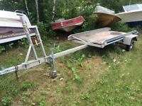 Aluminum utility and boat trailer - 4x8 deck