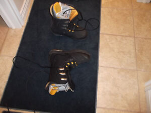 boots, bindings, board, and bag
