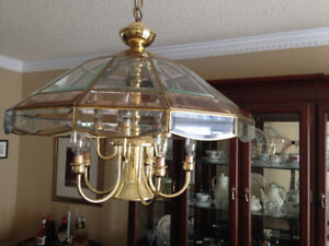 Tiffany Style Glass Hanging Lamp