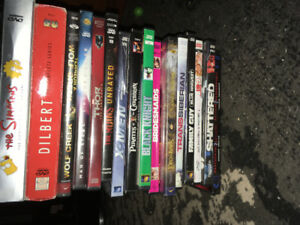 DVDS. $15 FOR ALL. GOOD DEAL.