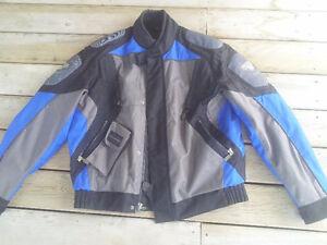 Motorcycle jacket & helmet. 2nd helmet sold.