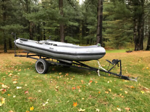 12' Archilles Inflatable boat with trailer