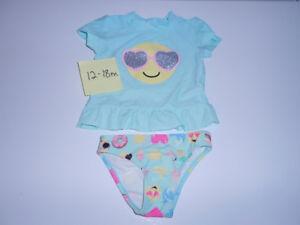 maillot de bain 2 pièces pour fille 12-18 mois