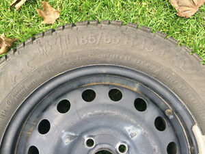 Gislaved Nordfrost 100 92T XL 185/65/15 - tires and steel rims Kitchener / Waterloo Kitchener Area image 3