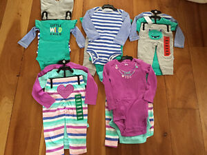 New! Carters 3 pc sets size 6,9,1218 mths