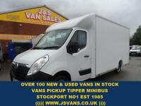 2013 13 VAUXHALL MOVANO LOLOADER LUTON BOX VAN ONLY 67000 MLS DIESEL