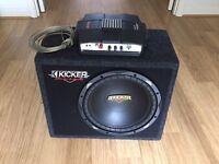 Kicker ES Subwoofer + High performance Amplifier