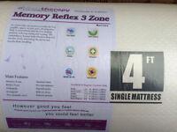 New Single memory foam mattress.