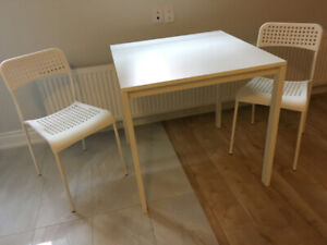 Small eating table and chairs