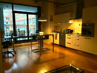 Downtown Montreal 6-Month Fully Furnished Loft