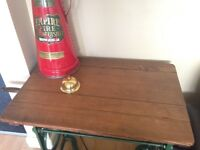 Antique industrial folding mangle table