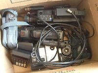 Bunch of old cameras and camcorders