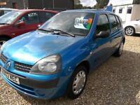2003 Renault Clio 1.2 16v Expression 5Dr 86K Blue Full Mot Low Insurance VGC
