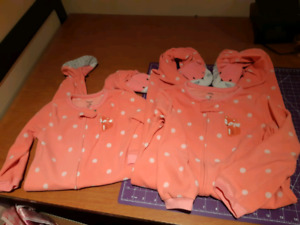 Carter's jammies sizes 18 months and 5T